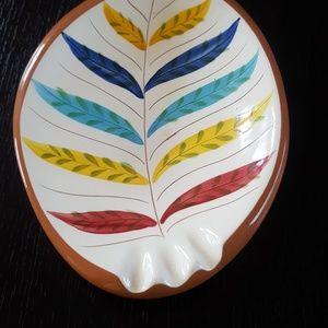 STANGL VINTAGE LG. leaf ash tray